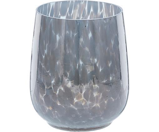 Windlicht Gunia, Glas, Blau, Ø 9 x H 12 cm
