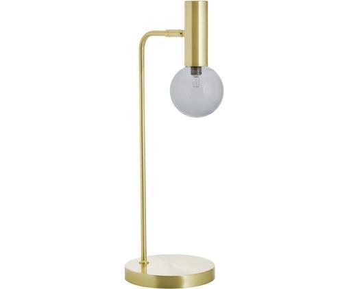 Lampa stołowa LED Wilson, Mosiądz, szary, S 22 x W 54 cm