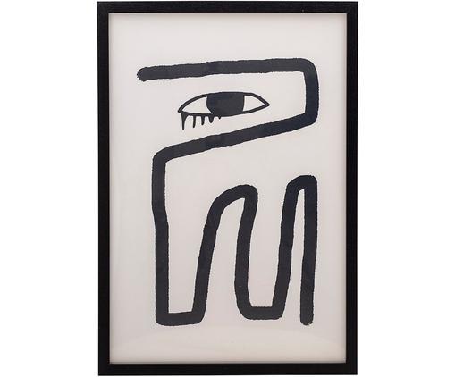 Gerahmter Digitaldruck Bryony, Rahmen: Mitteldichte Holzfaserpla, Bild: Digitaldruck auf Papier, , Schwarz, Weiß, 45 x 65 cm