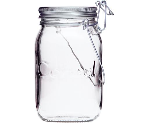 LED Solarleuchte Sonnenglas, Behälter: Glas, 100% recyclebar, Verschluss: Edelstahl, Behälter: Transparent<br>Verschluss: Edelstahl, Ø 12 x H 18 cm