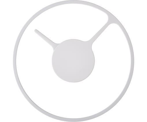 Orologio da parete Time, Alluminio rivestito, Bianco, Ø 22 cm