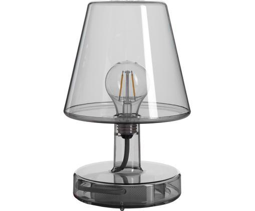Mobile LED Außentischleuchte Transloetje, Kunststoff, Grau, transparent, Ø 17 x H 27 cm