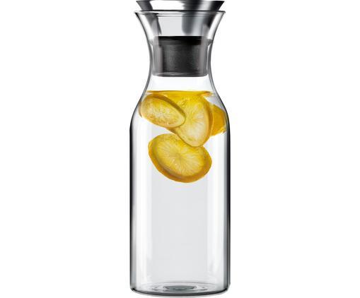 Bottiglia per l'acqua Eva Solo, Coperchio: acciaio inossidabile, sil, Trasparente, accaio inossidabile, 1 l