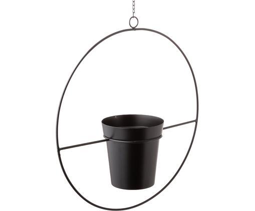 Wisząca osłonka na doniczkę Undine, Metal lakierowany, Czarny, S 40 x W 43 cm