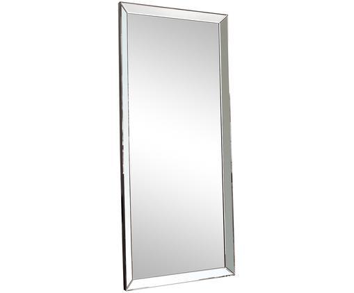 Specchio pendente Luna, Cornice: materiale sintetico, Superficie dello specchio: lastra di vetro, Argentato, Larg. 76 x Alt. 178 cm