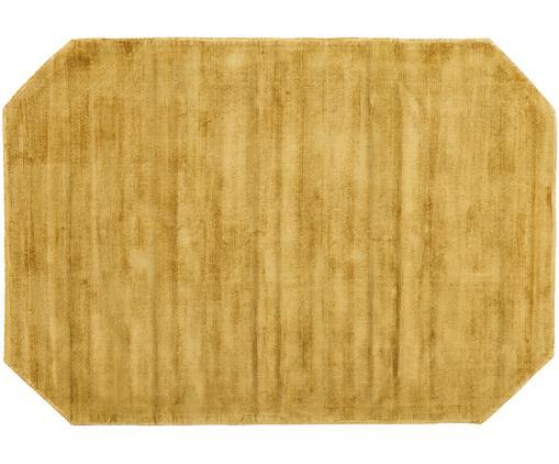 Handgewebter Viskoseteppich Jane Diamond in Senfgelb, Flor: 100% Viskose, Senfgelb, B 120 x L 180 cm (Größe S)
