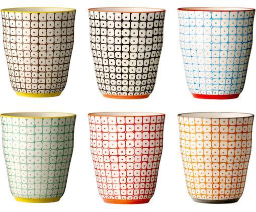 Ensemble de mugs Carla, 6élém., Multicolore, beige