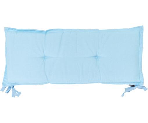 Einfarbige Bankauflage Panama, Bezug: 50% Baumwolle, 45% Polyes, Hellblau, 48 x 120 cm