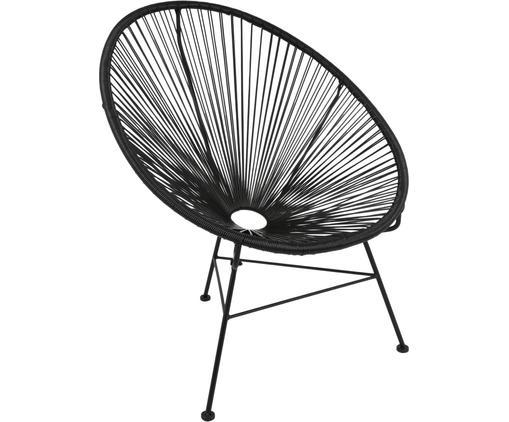 Sillón Bahia, Asiento: plástico, Estructura: metal, pintado en polvo, Plástico: negro Estructura: negro, An 81 x F 73 cm