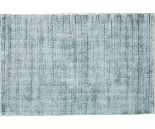 Ręcznie tkany dywan z wiskozy Jane, Chłodny niebieski, S 160 x D 230 cm