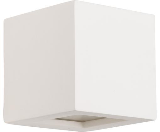 Applique Corridor, Paralume: ceramica, Crema, Larg. 14 x Alt. 14 cm