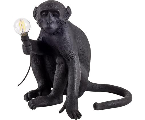 Lampada da tavolo a LED da esterno Monkey, Resina, Nero, Larg. 34 x Alt. 32 cm