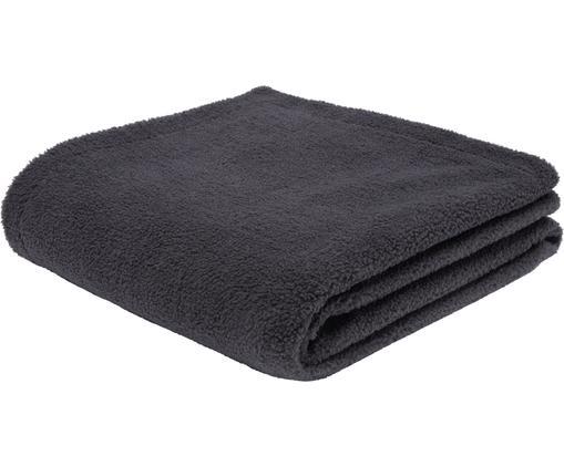 Teddy-Plaid Mille, Vorderseite: 100% Polyester (Teddyfell, Rückseite: 100% Polyester, Dunkelgrau, 180 x 240 cm
