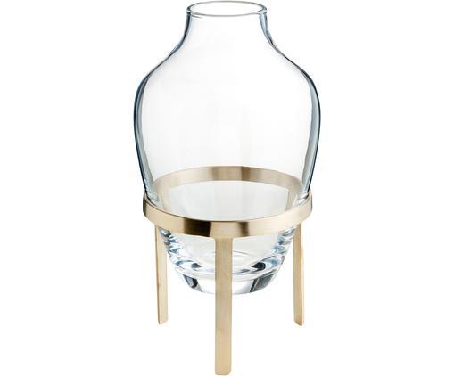 Vase Adorn, Gestell: Messing, mattVase: Transparent