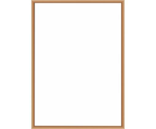 Bilderrahmen Accent, Rahmen: Aluminium, beschichtet, Front: Glas, Rückseite: Mitteldichte Holzfaserpla, Kupferfarben, 21 x 30 cm