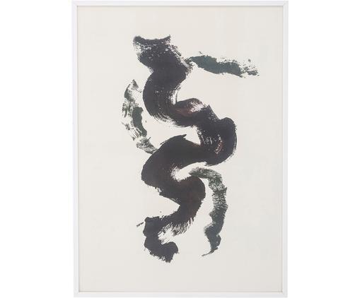 Gerahmter Digitaldruck Fredrik, Rahmen: Holz, Bild: Papier, Schwarz, Weiß, 52 x 72 cm