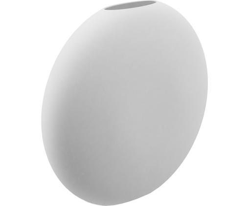 Handgefertigte Keramik-Vase Pastille, Keramik, Weiß, 20 x 19 cm