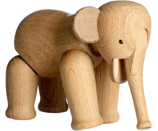 Dekoracja Elephant, drewno dębowe, Drewno dębowe, lakierowane, Drewno dębowe, S 17 x W 13 cm