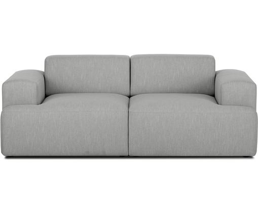 Sofa Melva (2-Sitzer), Bezug: Polyester 35.000 Scheuert, Gestell: Massives Kiefernholz, Spa, Füße: Kiefernholz, Webstoff Grau, B 200 x T 101 cm