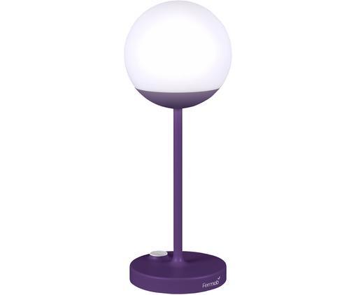 Mobile LED Außenleuchte Mooon, Lampenschirm: Kunststoff, Lila, Ø 15 x H 41 cm