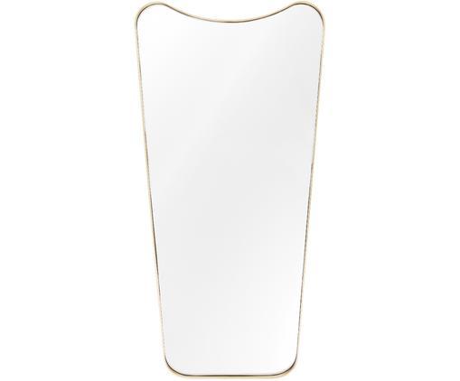 Espejo de pared Goldie, Espejo: cristal, Parte trasera: tablero de fibras de dens, Latón, cepillado, An 70 x Al 140 cm