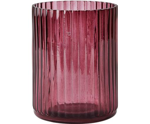 Vaas Rubio, Glas, Bordeauxrood, transparent, Ø 11 x H 15 cm