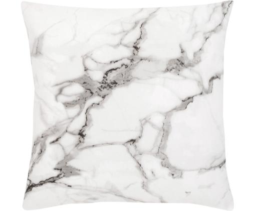 Kissenhülle Malin mit Marmormuster, Webart: Perkal, Marmormuster, Weiß, 45 x 45 cm