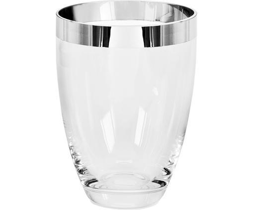 Vaso in vetro Charlotte, Vetro di platino, Trasparente, A 20 cm