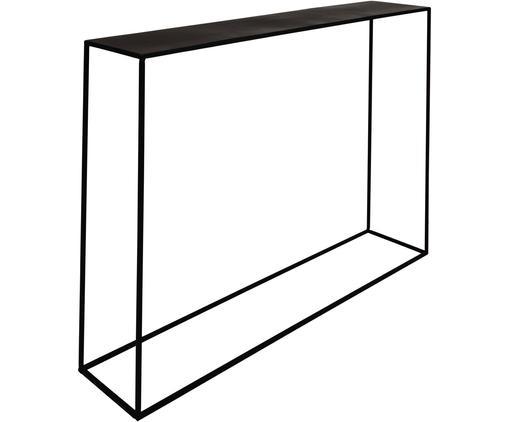 Consolle in metallo nero Expo, Metallo verniciato a polvere, Nero, Larg. 110 x Prof. 25 cm