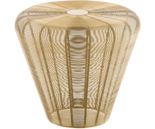 Stołek/stolik pomocniczy z metalu Pulse, Metal mosiądzowany, Odcienie mosiężnego, Ø 40 x W 38 cm