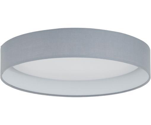 LED plafondlamp Helen, Frame: metaal, Diffuser: kunststof, Grijs, Ø 35 x H 7 cm