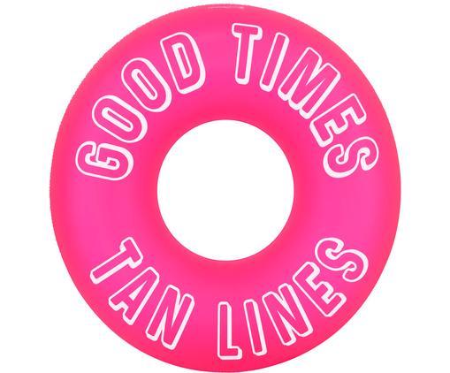 Aufblasbarer Schwimmring Good Times, Kunststoff (PVC), Neonpink, Weiß, Ø 110 x H 35 cm