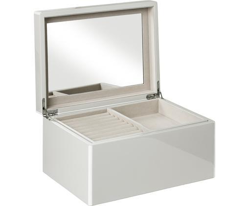 Boîte à bijoux Taylor avec miroir, Gris