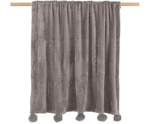 Plaid Bomla, Poliestere, Taupe, Larg. 130 x Lung. 170 cm