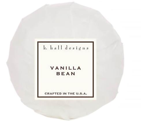 Badekugel Vanilla Bean (Vanille & Tonkabohne), Weiß, Ø 7 x H 7 cm