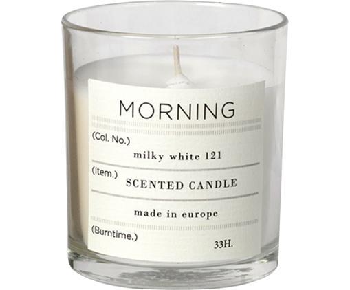 Duftkerze Morning (Grapefruit), Natürliches Sojawachs, Glas, Transparent, Ø 8 x H 8 cm