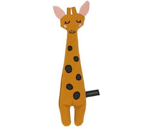 Peluche en coton bio Giraffe, Jaune, noir, rose