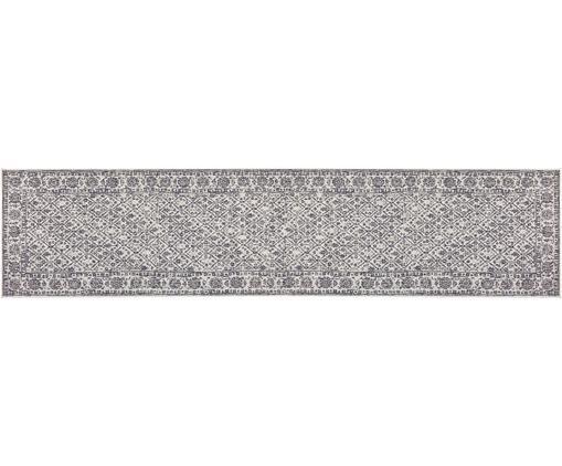 In- und Outdoor-Wendeläufer Curacao, Grau, Cremefarben, 80 x 350 cm