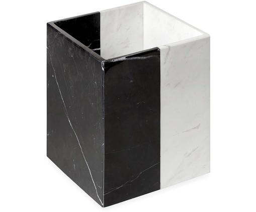 Pudełko do przechowywania z marmuru Canaan, Marmur, Czarny, biały, S 19 x W 24 cm