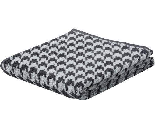 Telo bagno Shapes, Cotone, qualità media 500g/m², Antracite, bianco, Larg. 70 x Lung. 140 cm