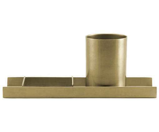 Set organizer da ufficio  Stationary, 3 pz., Metallo, Oro, L 27 x A 10 cm