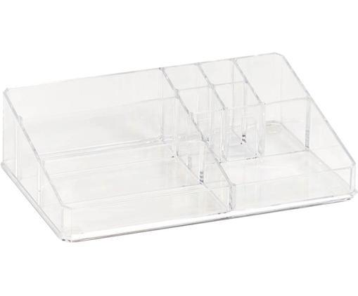 Schmink-Aufbewahrung Clear, Kunststoff, Transparent, 32 x 9 cm