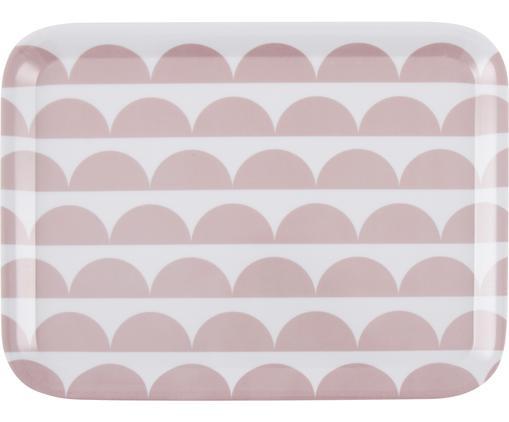 Vassoio da portata Oslo in rosa / bianco, Melamina, Rosa, bianco, Larg. 29 x Prof. 22 cm