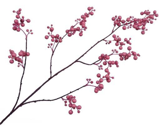 Branche de baie artificielleBarbara, Brun, rose