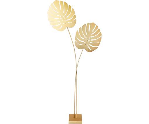 Lampa podłogowa Costa Rica, Mosiądz powlekany, Odcienie mosiądzu, S 80 x W 180 cm