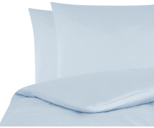 Baumwollsatin-Bettwäsche Comfort in Hellblau, Webart: Satin Fadendichte 250 TC,, Hellblau, 240 x 220 cm + 2 Kissen 80 x 80 cm