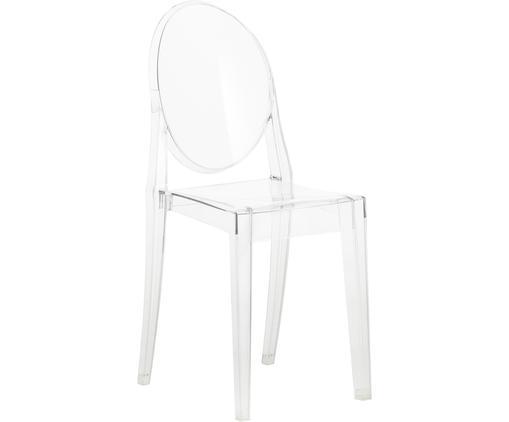 Krzesło Victoria Ghost, Poliwęglan, Transparentny, S 38 x W 89 cm