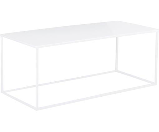 Stolik kawowy z metalu Stina, Metal malowany proszkowo, Biały, matowy, S 90 x W 45 cm