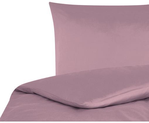 Baumwollsatin-Bettwäsche Comfort in Mauve, Webart: Satin Fadendichte 250 TC,, Mauve, 135 x 200 cm + 1 Kissen 80 x 80 cm