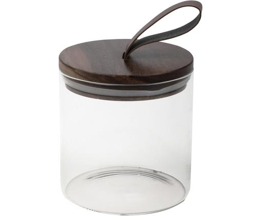 Pojemnik do przechowywania Bory, Transparentny, brązowy, Ø 10 x W 12 cm